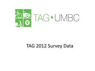TAG 2012 Survey Data