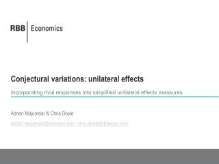 Conjectural variations: unilateral effects