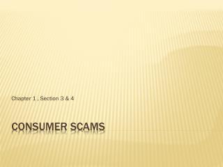 Consumer Scams