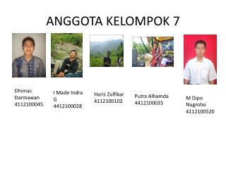 ANGGOTA  KELOMPOK 7