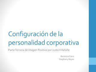 Configuraci�n de la personalidad corporativa