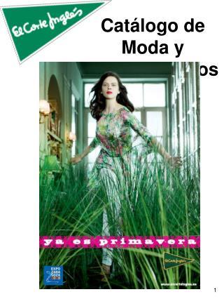 Catálogo de Moda y Complementos