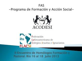 FAS -Programa de Formación y Acción Social-