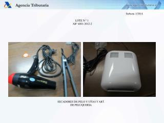 LOTE N º 1  ABº 4801-2012-2