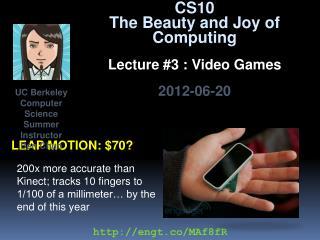 Leap Motion: $70?