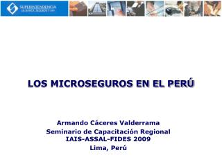 LOS MICROSEGUROS EN EL PER
