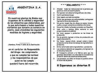 BIMBO ARGENTINA S.A.