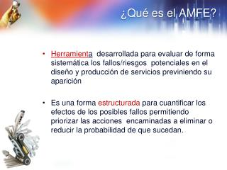 ¿Qué es el AMFE?