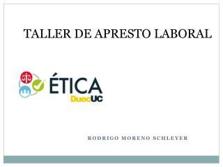 TALLER DE APRESTO LABORAL