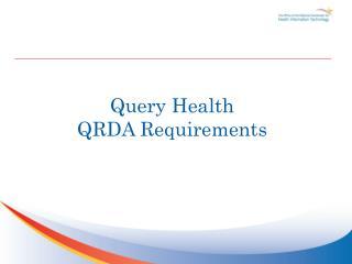 Query Health QRDA Requirements