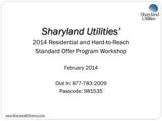 Sharyland Utilities' 2014 Residential and Hard-to-Reach Standard Offer Program Workshop
