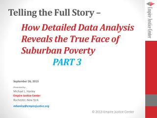 How Detailed Data Analysis Reveals the True Face of Suburban Poverty PART 3
