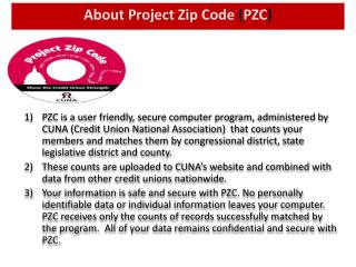 About Project Zip Code  ( PZC )