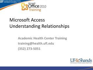 Microsoft Access Understanding  Relationships