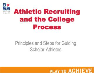 Athletic Recruiting and the College Process