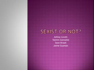 Sexist or not?