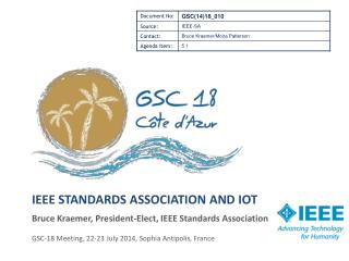 IEEE Standards association and  iot