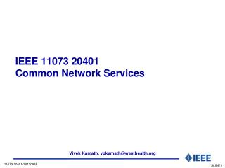 IEEE 11073 20401  Common  Network Services