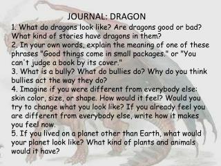 JOURNAL: DRAGON