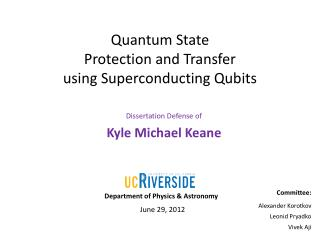 Quantum State Protection and Transfer using Superconducting  Qubits