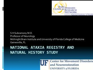 NATIONAL ATAXIA REGISTRY AND NATURAL HISTORY STUDY