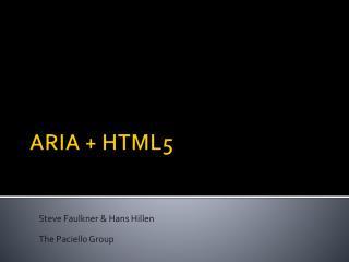 ARIA + HTML5