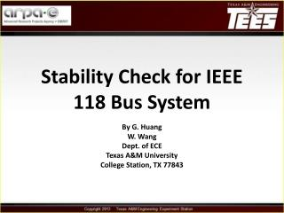 Stability Check for IEEE 118 Bus System