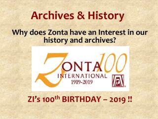 Archives & History
