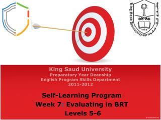 King  Saud University Preparatory Year Deanship English Program  Skills Department 2011-2012