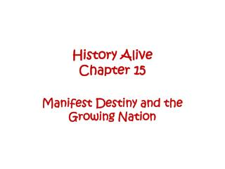 History Alive  Chapter 15