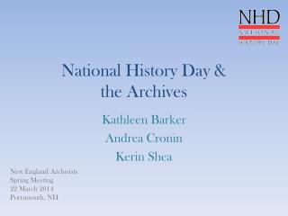 National History Day &  the Archives