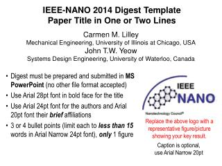 IEEE-NANO  2014  Digest  Template Paper Title in One or Two Lines