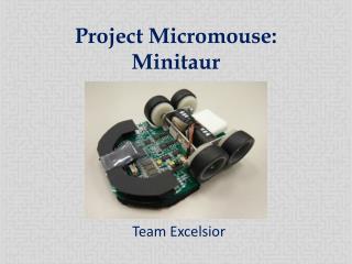 Project Micromouse: Minitaur