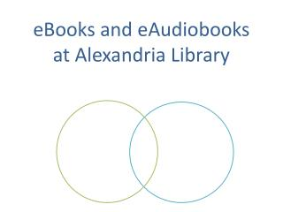 eBooks and  eAudiobooks at Alexandria Library
