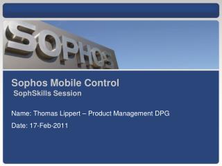 Sophos Mobile Control SophSkills  Session