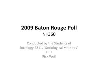 2009 Baton Rouge Poll N360