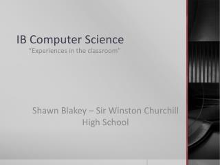 IB Computer Science