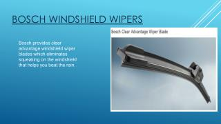Bosch Windshield Wipers