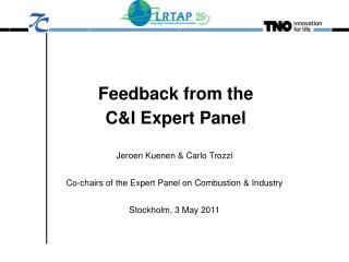 Feedback from the C&I Expert Panel