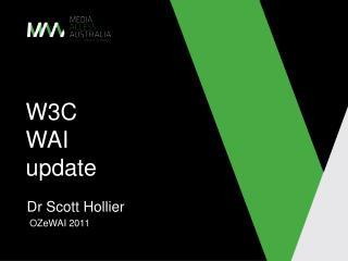 W3C  WAI update