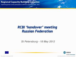 RCBI 'handover' meeting Russia n Federation