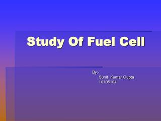 Study Of Fuel Cell