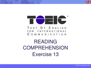 READING COMPREHENSION Exercise 13