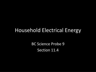 Household Electrical Energy
