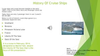 History Of Cruise Ships