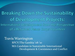 Travis Warrington RPCV/The Gambia '08-'10