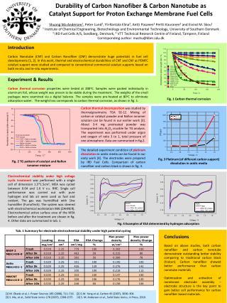 Durability of Carbon Nanofiber & Carbon Nanotube as