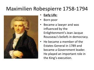 Maximilien  Robespierre 1758-1794