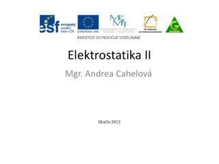 Elektrostatika II