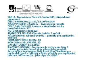 ŠKOLA:Gymnázium, Tanvald, Školní 305, příspěvkováorganizace